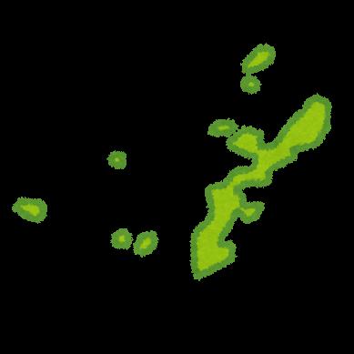 九州地方沖縄地方8県の地図のイラスト都道府県 かわいいフリー