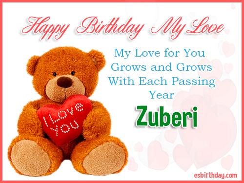Zuberi Happy Birthday My Love