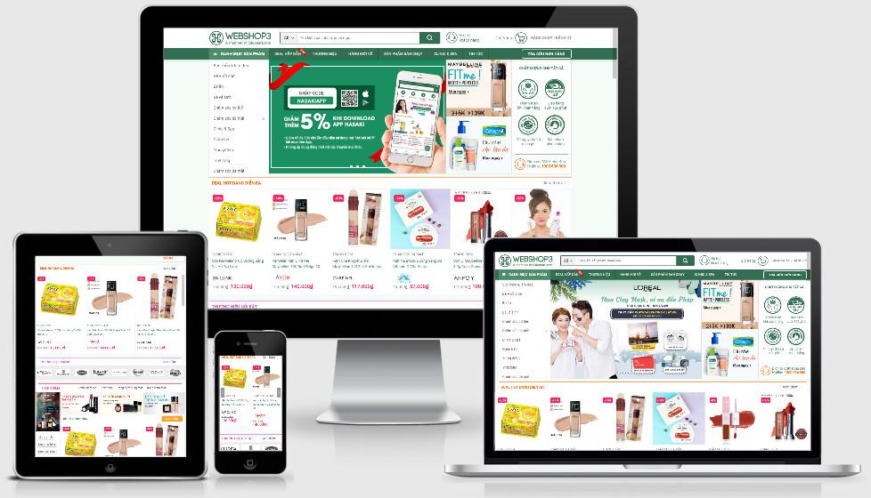 Theme wordpress bán hàng mỹ phẩm | Mẫu wordpress shop mỹ phẩm