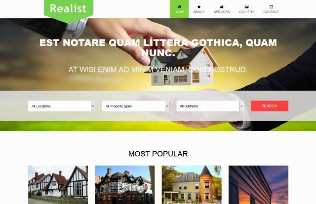 Realist - Bootstrap Template for Real Estate