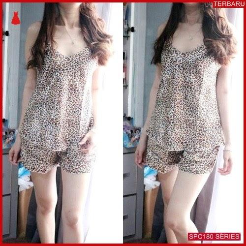 SPC180P66 Pajamas Leopart Terbaru Baju Tidur Wanita | BMGShop