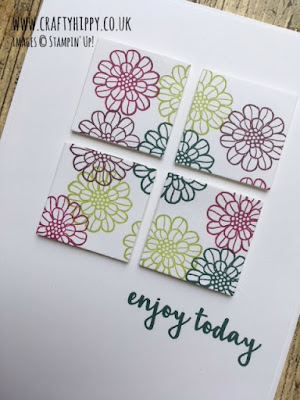 Create this colourful floral birthday card using the Touches of Texture stamp set by Stampin' Up!