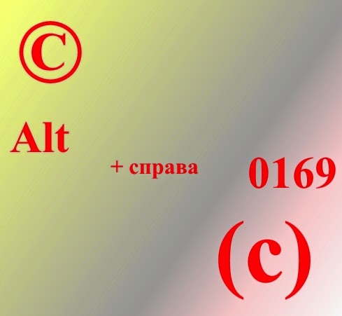 Знак © и знак (с) -   как набрать с клавиатуры.   Копирайт или цитирование.