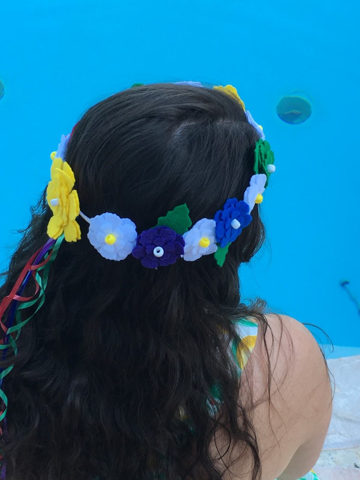 Fiesta felt flower crown sam rhymes with ham in my last post i gave you all a step by step tutorial on felt flower crowns specifically with tiny little red white a blue izmirmasajfo