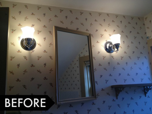 bathroom makeover before pictures sconces