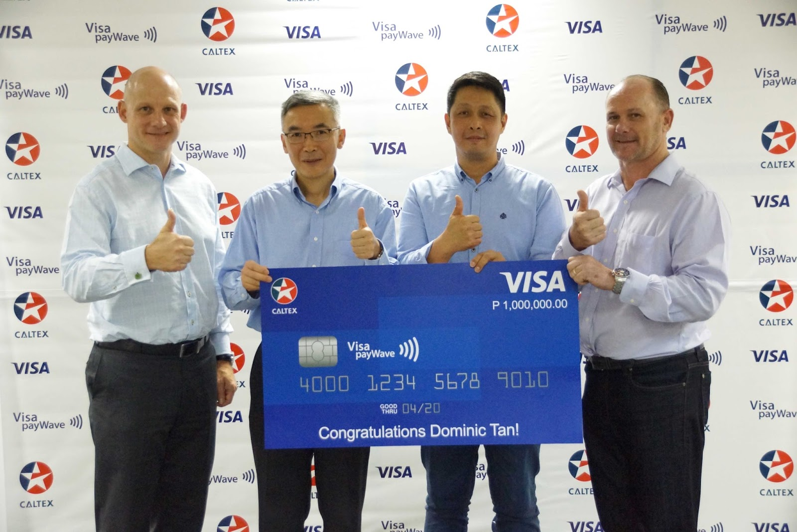 Caltex-Visa payWave Drive Away a Millionaire promo announces grand winner of P1M Visa credit
