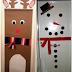 Δυο ιδεες για χριστουγεννιατικη διακοσμηση πορτας!