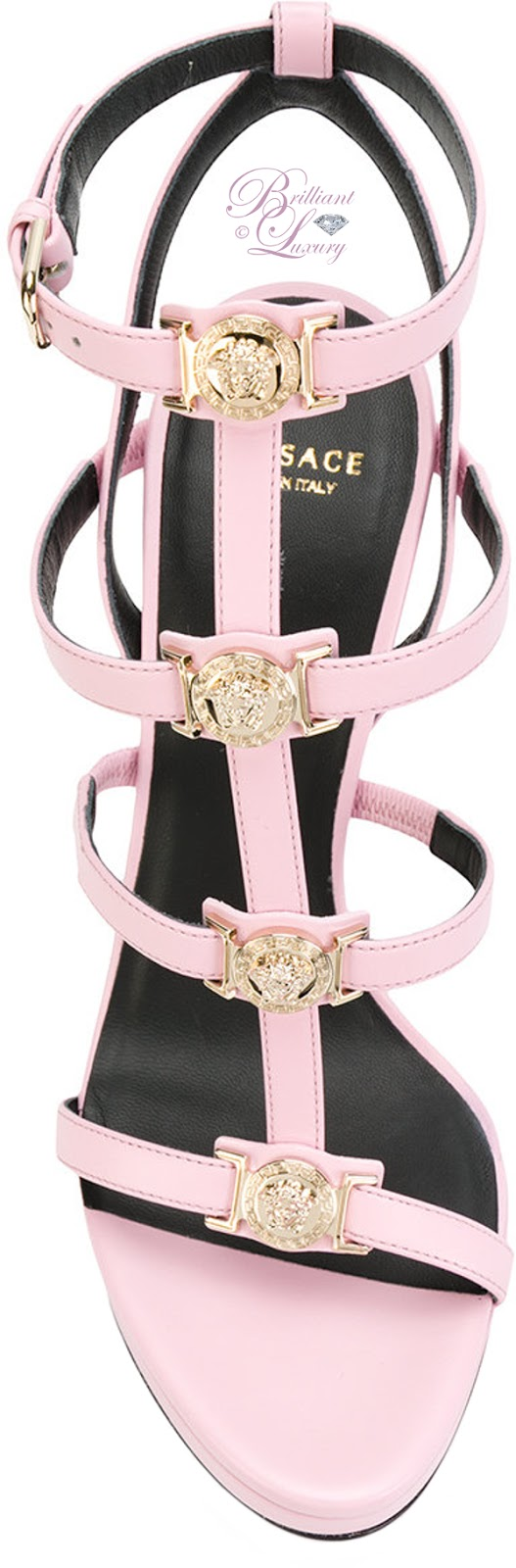 Brilliant Luxury ♦ Versace signature Medusa strap sandals