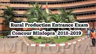 Concour Minfopra  2018-2019