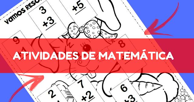 Nesta postagem trago para vocês atividades de matemática prontas para imprimir para trabalhar adição com a temática Páscoa.