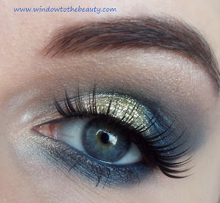 blue gold makeup