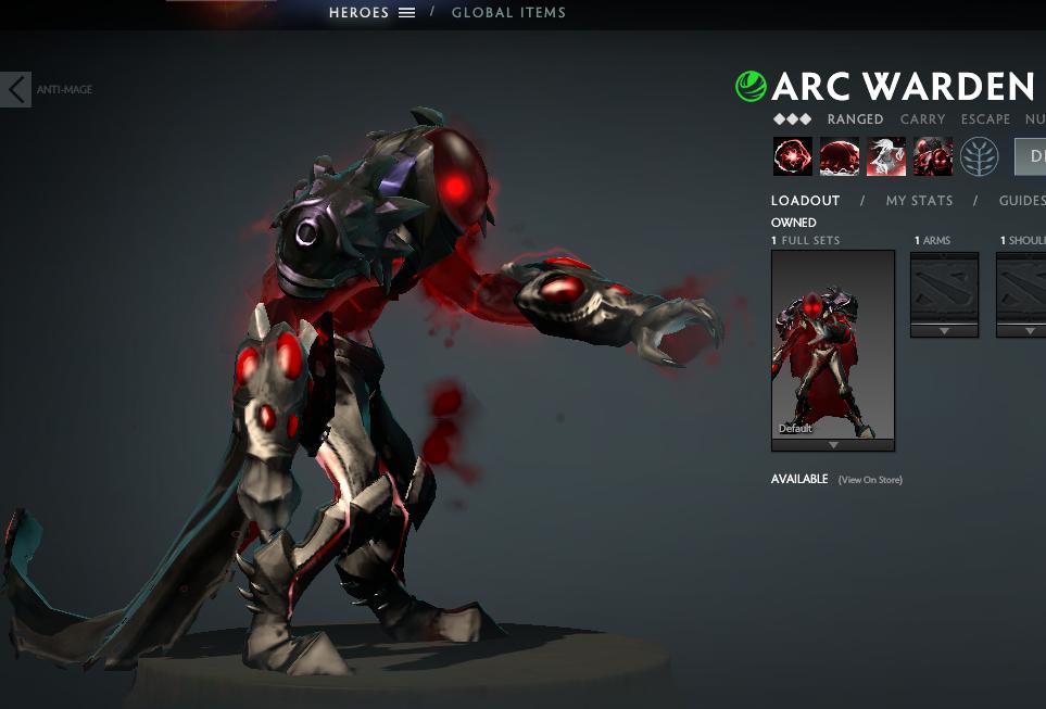 Mod Arc Warden Dracula Mod Skin Dota