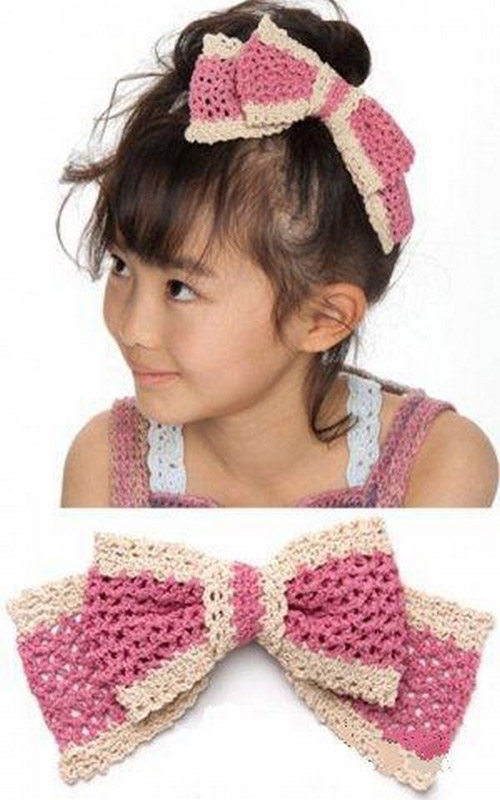 Silk Garden Hair Ribbon - Free Pattern