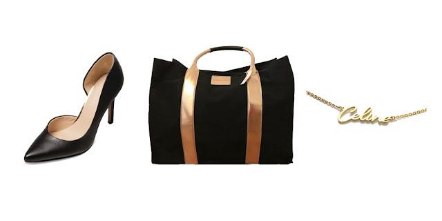 Target Black High Heels, Victoria's Secret Weekender Bag, Gold Name Necklace, Fashion Blogger, College Blogger, Lifestyle Blogger