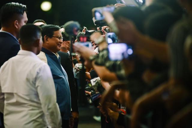 Ditanya soal Anggaran Pertahanan Militer, Prabowo: Ya Pilih Gue Jadi Presiden Dulu