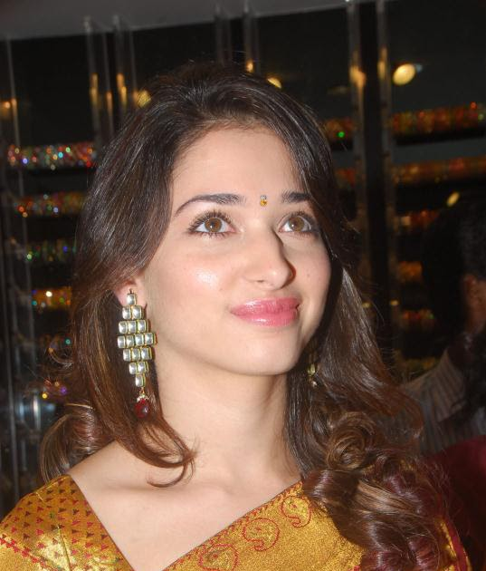 Actress Tamanna Latest Cute Stills In Saree