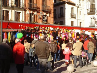 Mercado tradicional navideño de la Plaza Mayor