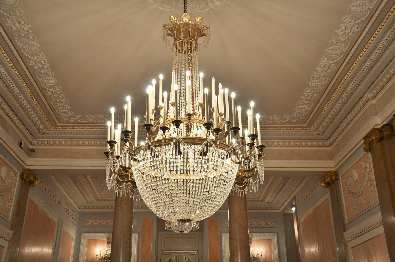 A crystal chandelier, La Fenice, Venice, Italy