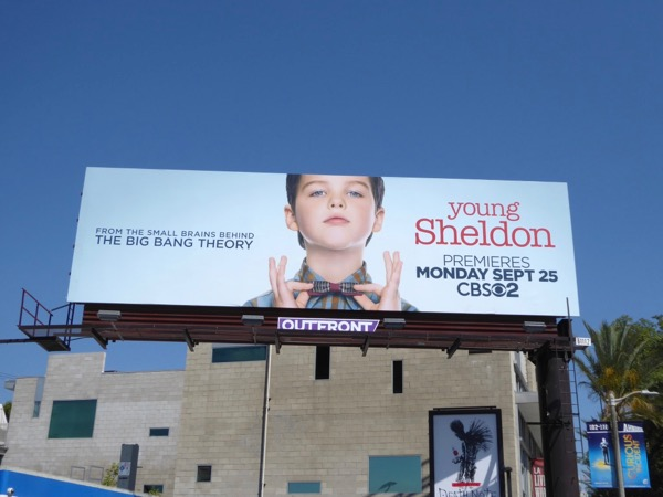Young Sheldon CBS billboard