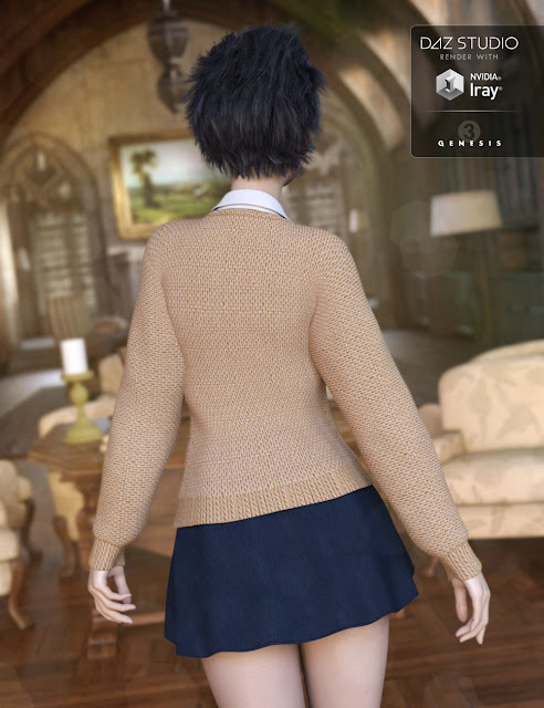 New Semester Outfit for Genesis 3 Female