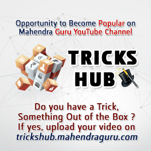 Tricks Hub : Opportunity to Become Popular on Mahendra Guru YouTube Channel