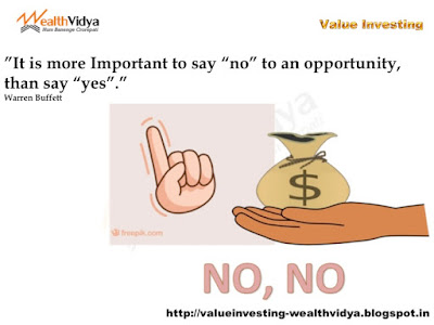 Slide Depicts Importance of Saying No to Investment Opportunities