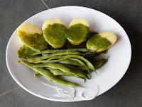 Mojo con judías verdes y patatas