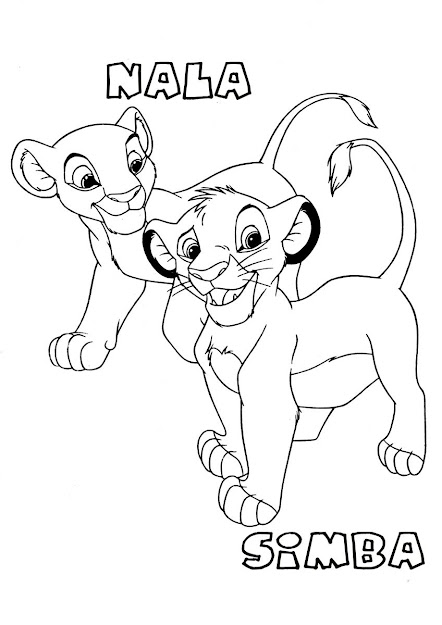 Nala And Simba Baby Nbaby Colouring Pages For Simba Coloring Pages