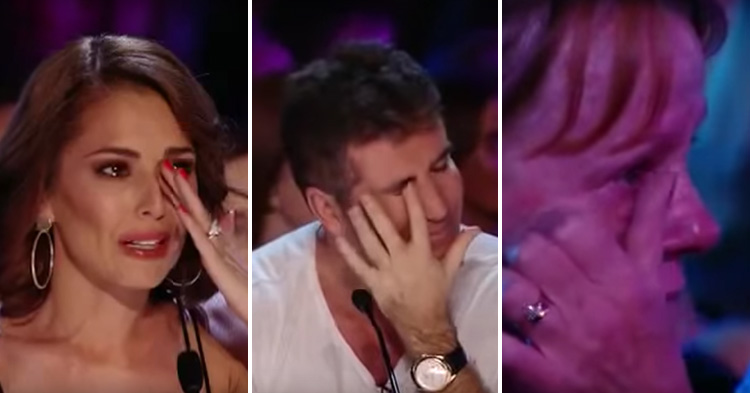 Judges and the audience can't help but cry during an emotional performance.