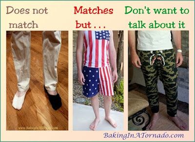 Bewildered, kids' style, someties they don't match, sometimes they match too much and sometimes I just don't want to talk about it. | www.BakingInATornado.com | #funny #parenting