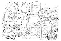 דפי צביעה זהבה ושלושת הדובים