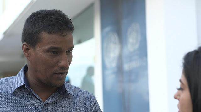 Delson Guarate logró escapar por la frontera de las garras de Maduro