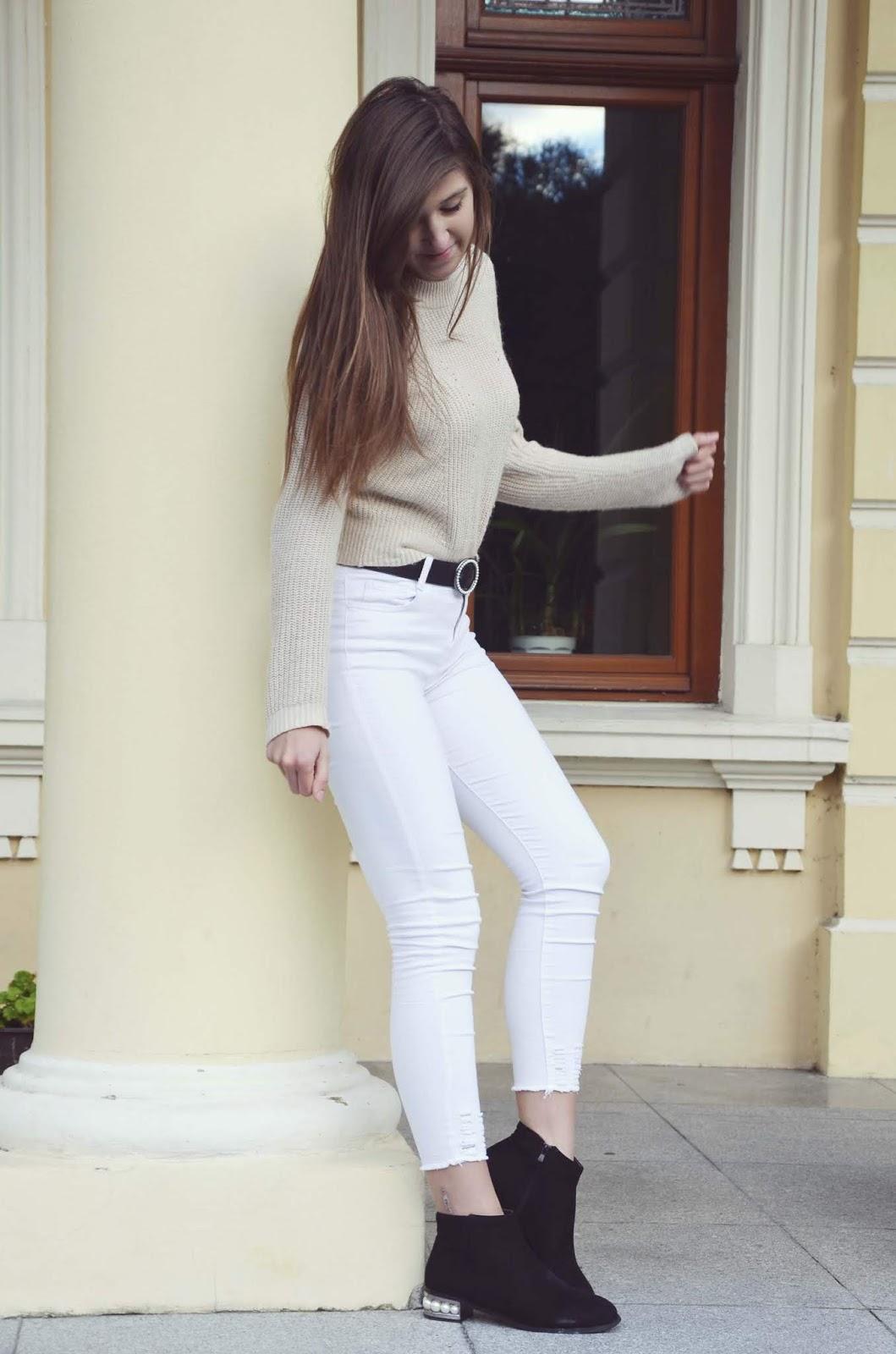 BLACK & WHITE PEARLS || nakd.com jacket ♥