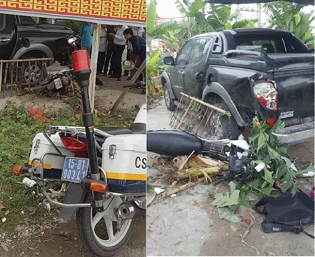 Hai nữ sinh gặp nạn do bị cảnh sát giao thông truy đuổi