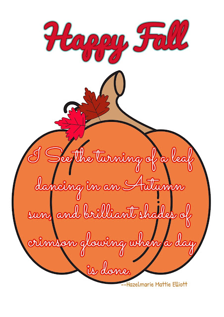 Happy Fall Pumpkin Printable with Quote