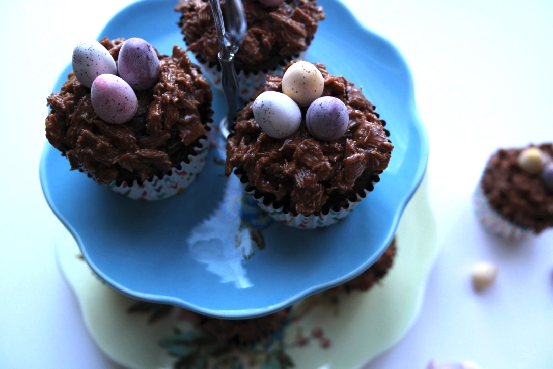 Chocolate Fudge Cake Easter Nest Recipe