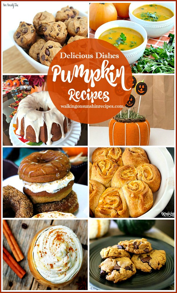 Easy and Delicious Pumpkin Recipes from Walking on Sunshine Recipes