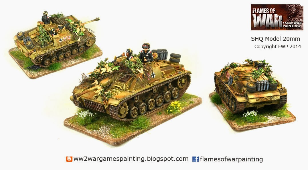 SHQ painted tanks