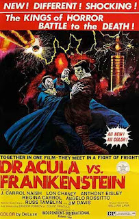 Dracula vs Frankenstein (1971), la última película de Lon Chaney jr.