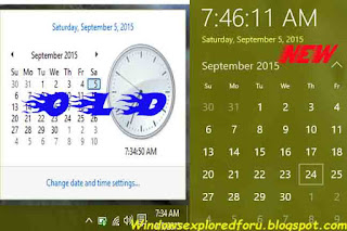 Get back Old Clock,Calendar in Windows 10