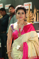 Sneha Looks Super cute in Red Silk Saree at IIFA Utsavam Awards 008.JPG