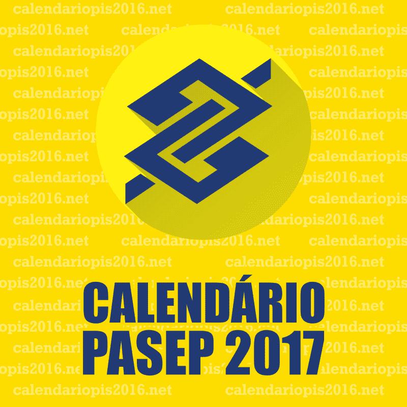 Calendário PASEP 2017