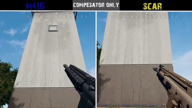 PUBG: Cùng xem sự khác biệt về độ giật của các khẩu súng ARs