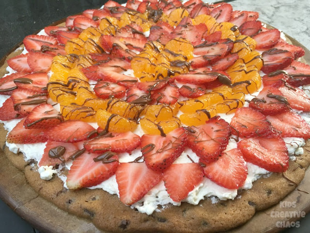 Fruit Pizza and Chocolate Cookie perfect Valentine Dessert Recipe
