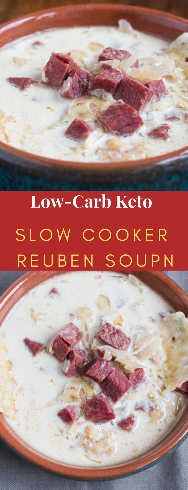 Low-Carb Keto Slow Cooker Reuben Soup
