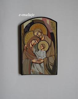Szlachetna Święta Rodzina w Brązach… Ikona Autorska Modlitwą Pisana