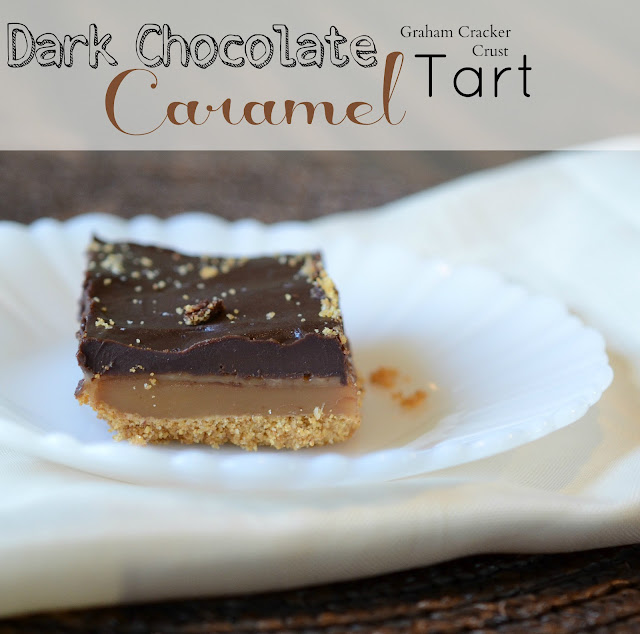 Dark Chocolate Salted Caramel Tart with a Graham Cracker Crust