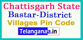 Bastar District Pin Codes in Chattisgarh State