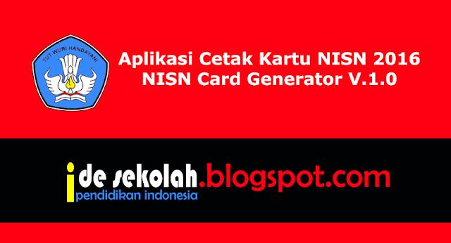 Aplikasi Cetak Kartu NISN 2016 - NISN Card Generator