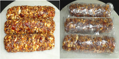 Roll and wrap the dryfruits mixture